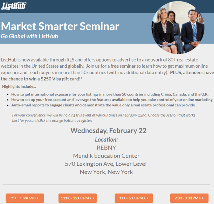 ListHub Seminar: Market Smarter, Tech Tools for Real Estate
