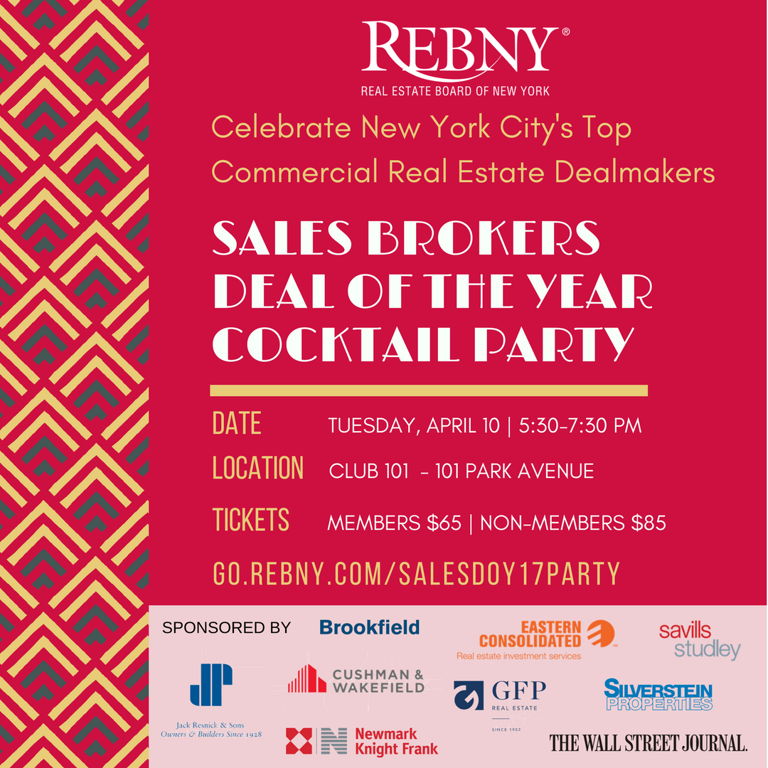 April 10, 2018 Sales Brokers Deal of the Year Cocktail Party
