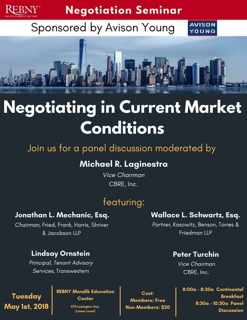 Negotiating in the current market