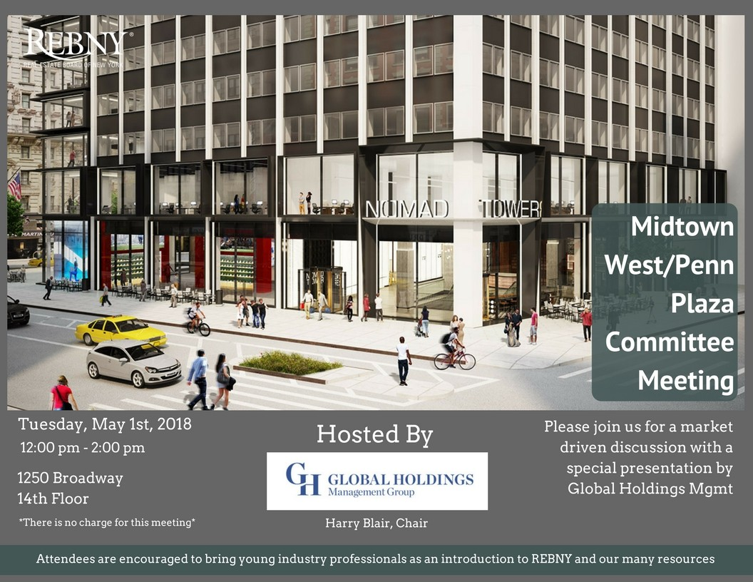 Join us for the Midtown West/ Plaza Committee Meeting