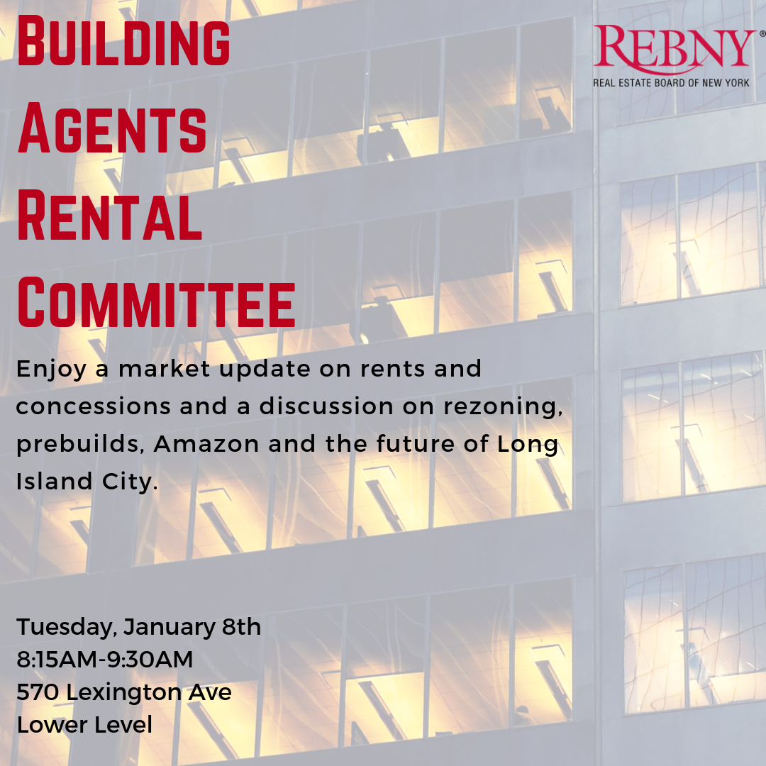 Open Commercial Building Agents Rental Committee Meeting