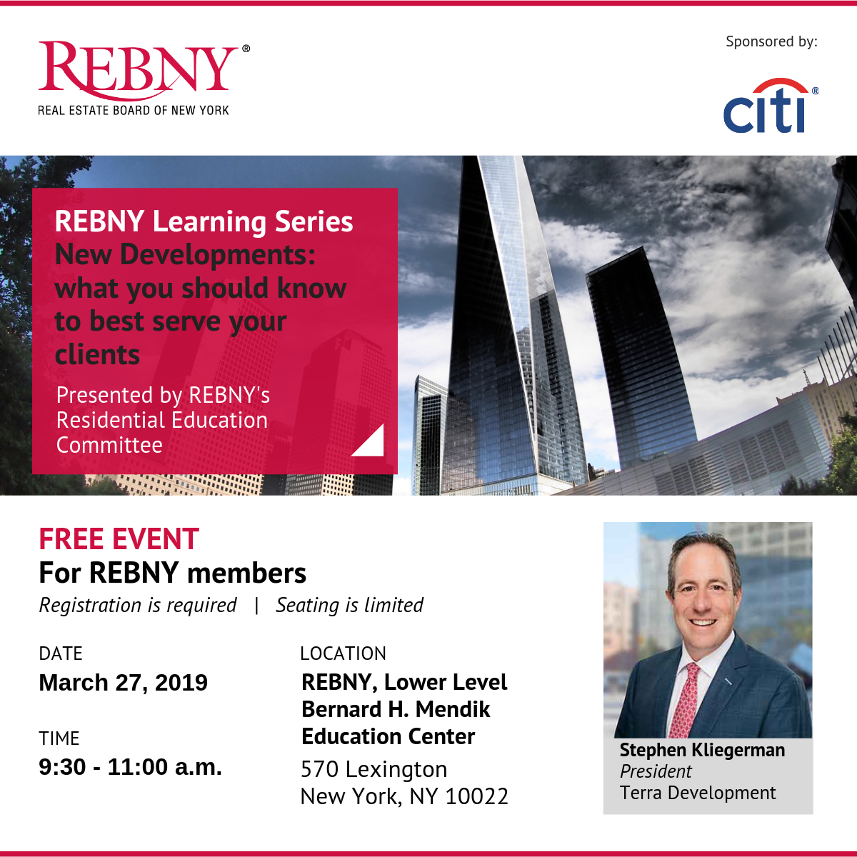 REBNY Learning Series with Stephen Kliegerman - All You Need to Know About New Developments
