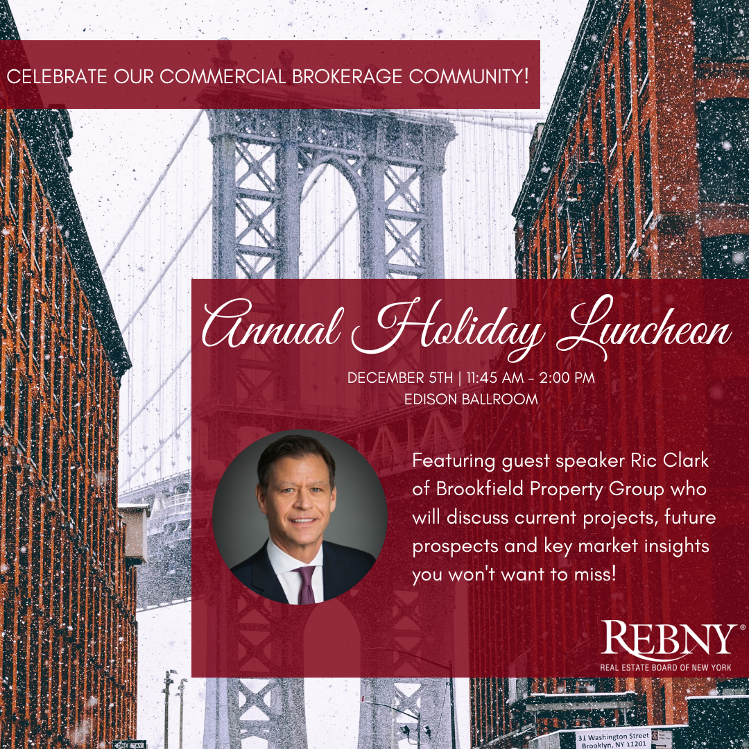 REBNY's Annual Holiday Luncheon