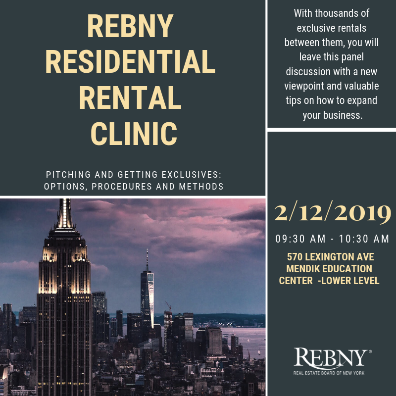 REBNY Residential Rental Clinic- Pitching and Getting Exclusives