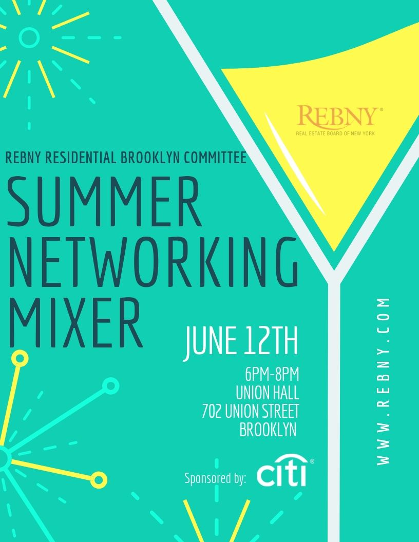 Residential Brooklyn Committee Summer Networking Mixer