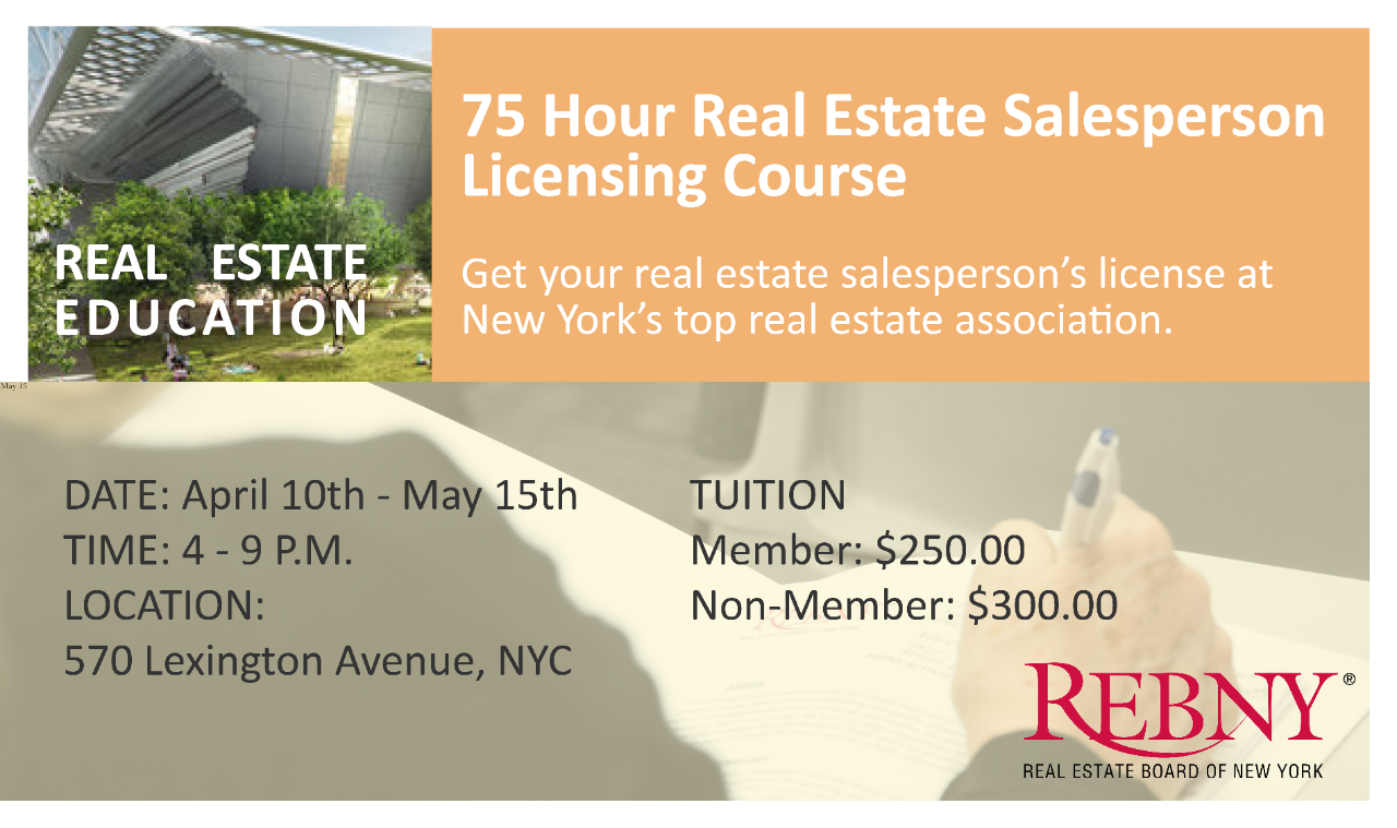 Get your real estate salesperson's license today.