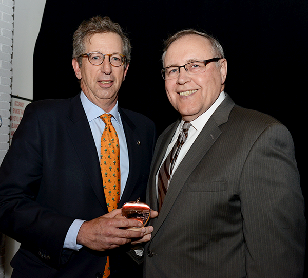 ABNY Chairman, William Rudin presents REBNY President Steven Spinola with the Spirit of ABNY Lew Rudin Founder's Award.