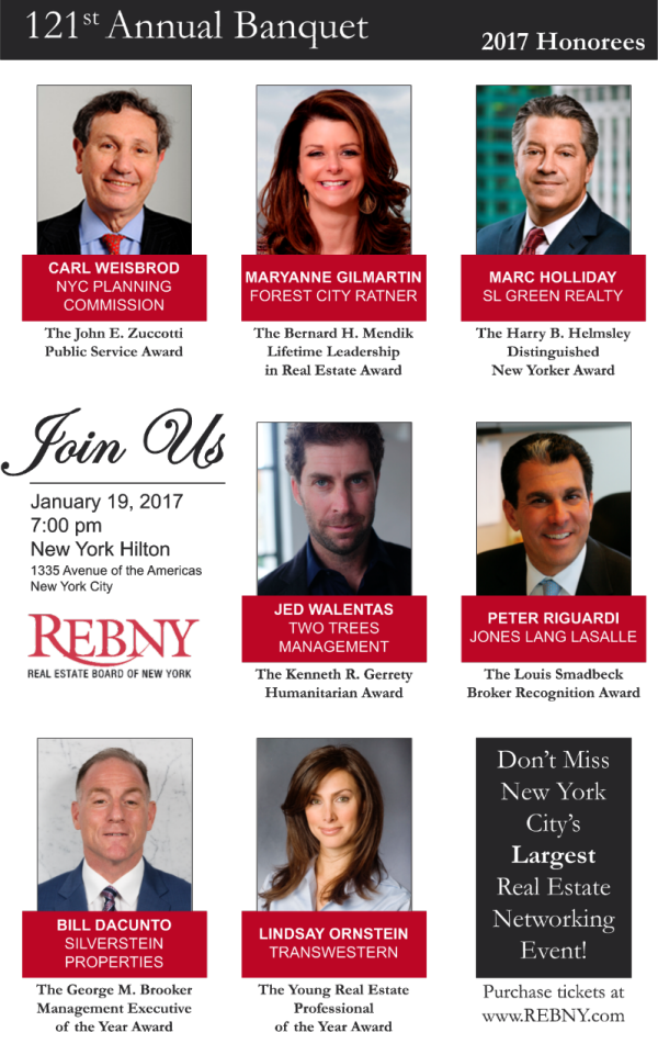 Purchase Tickets to the 2017 REBNY Banquet