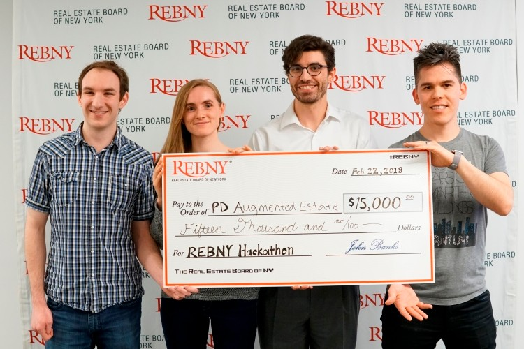 Prescriptive Data's Augmented Estate REBNYTech Hackathon Gauntlet Challenge Winners 2018
