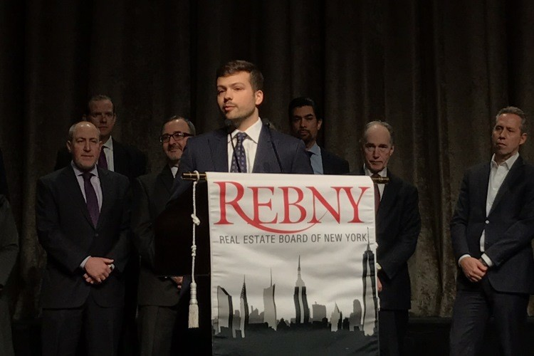 Evan Fiddle CBRE - 2017 REBNY Most Promising Commercial Salesperson of the Year