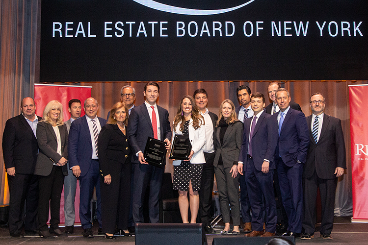 REBNY's Commercial Brokerage Board of Directors and the 2018 Most Promising Commercial Salesperson of the Year Awards Winners